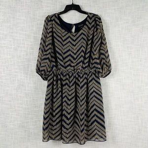 Enfocus Women chevron cold-shoulder dress, sz 14W